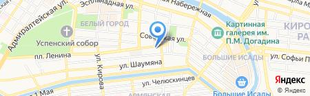 Вест-У на карте Астрахани