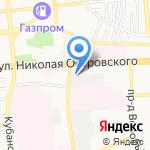 Золотая Подкова на карте Астрахани
