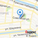 Астраханский драматический театр на карте Астрахани