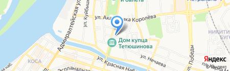 Столяровская на карте Астрахани