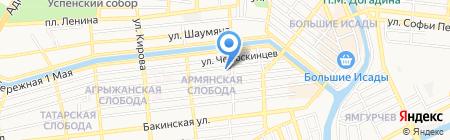 Колосс на карте Астрахани