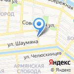 Казус на карте Астрахани