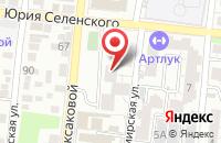 Схема проезда до компании Тори в Астрахани