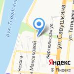 Пятое колесо на карте Астрахани