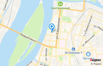 Местоположение на карте пункта техосмотра по адресу г Астрахань, ул Марии Максаковой, д 9/16
