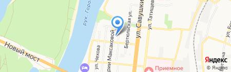 Управление пенсионного фонда в Ленинском районе г. Астрахани на карте Астрахани