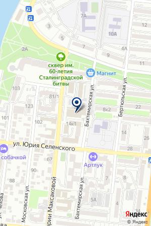 КОМБИНАТ МЕТАЛЛОИЗДЕЛИЙ АСРП ВОИ на карте Астрахани