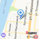 Домовито на карте Астрахани