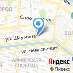 Леона на карте Астрахани