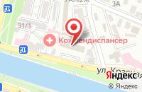 Схема проезда до компании Ультрамарин в Астрахани