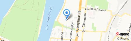 Гимназия №1 на карте Астрахани