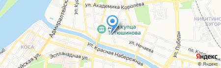 Лазурь-С на карте Астрахани