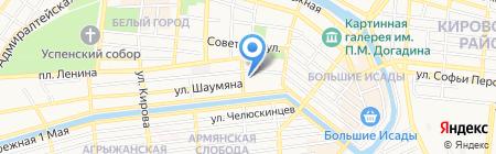 Силайн на карте Астрахани