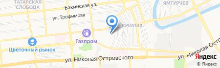 Витраж на карте Астрахани