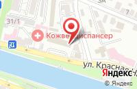 Схема проезда до компании Юникс в Астрахани