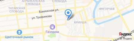 Т-Сервис на карте Астрахани