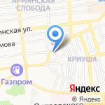 Шантье на карте Астрахани