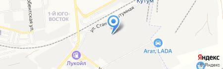 Белый медведь на карте Астрахани