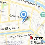 Рябинка на карте Астрахани