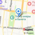 Зима на карте Астрахани