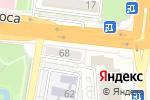 Схема проезда до компании Золотая рыбка в Астрахани