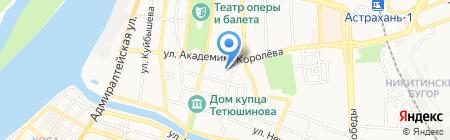Средняя общеобразовательная школа №32 с углубленным изучением предметов физико-математического профиля на карте Астрахани