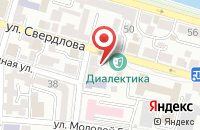 Схема проезда до компании Астраханьрегионкачество в Астрахани