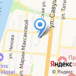 Триаст на карте Астрахани