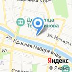 Слобода на Марфинской на карте Астрахани