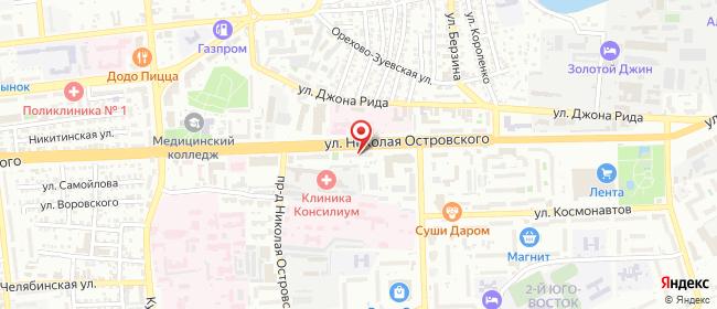Карта расположения пункта доставки 2d2d.ru в городе Астрахань