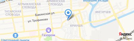 Магнолия на карте Астрахани