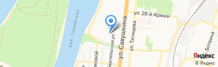 Детский сад №99 на карте Астрахани