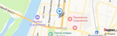 Пункт обслуживания клиентов №56 на карте Астрахани