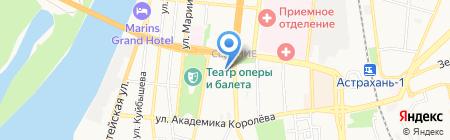 Сеть мастерских по изготовлению ключей и ремонту обуви на карте Астрахани