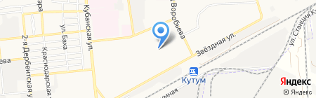 Солнечный ветер на карте Астрахани
