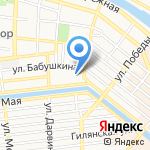 Детский сад №102 на карте Астрахани