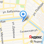 Гарантия-Астрахань на карте Астрахани