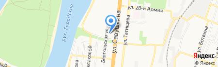 Библиотека №6 на карте Астрахани