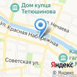 Донской на карте Астрахани