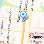 Зимар на карте Астрахани