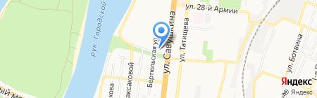 Самородок на карте Астрахани