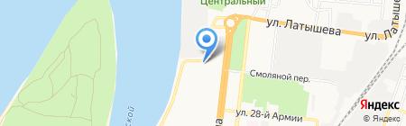 Аркадия на карте Астрахани