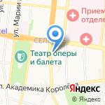 Элегант на карте Астрахани