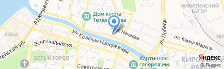 Интерра на карте Астрахани