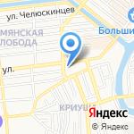 Шаурмитта на карте Астрахани
