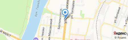 Хоум Кредит энд Финанс Банк на карте Астрахани