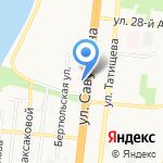 Пенсионный на карте Астрахани