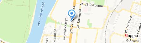 Иголка и нитка на карте Астрахани