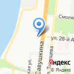 Ультрамарин на карте Астрахани