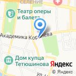 Орто на карте Астрахани